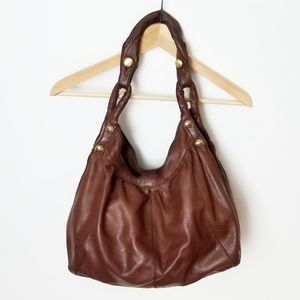 Lucky Brand brown leather hobo shoulder bag